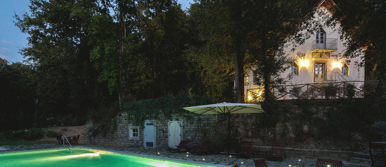 A summer evening at Villa Casolare